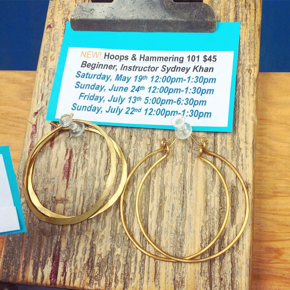 Brass Hoops $20- $45