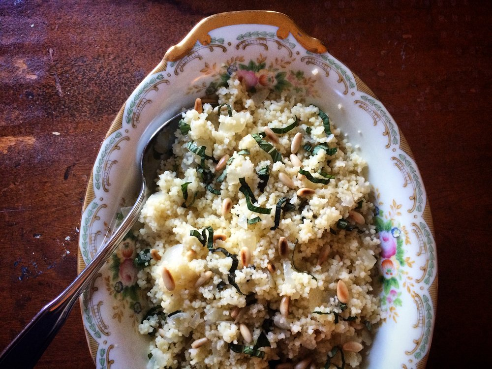 couscous with pine nuts and mint || planting my roots - a washington, dc-based food blog filled with nourishing and seasonal recipes