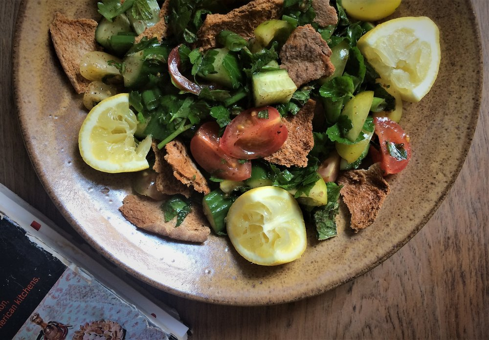 fattoush || planting my roots
