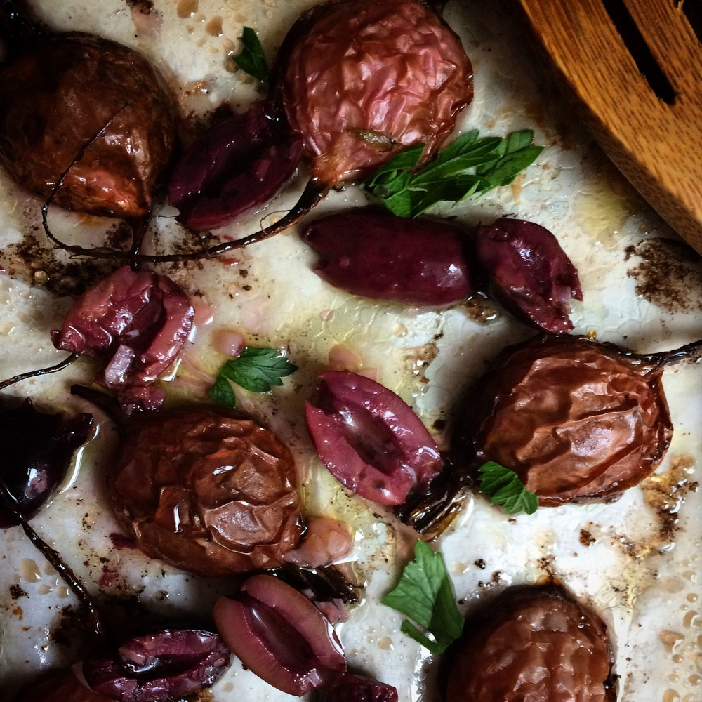 Roasted Radishes with Kalamata Dressing || Planting my Roots