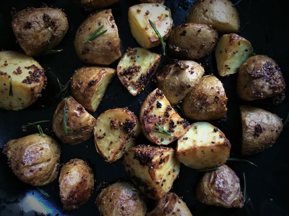 roasted potatoes || planting my roots