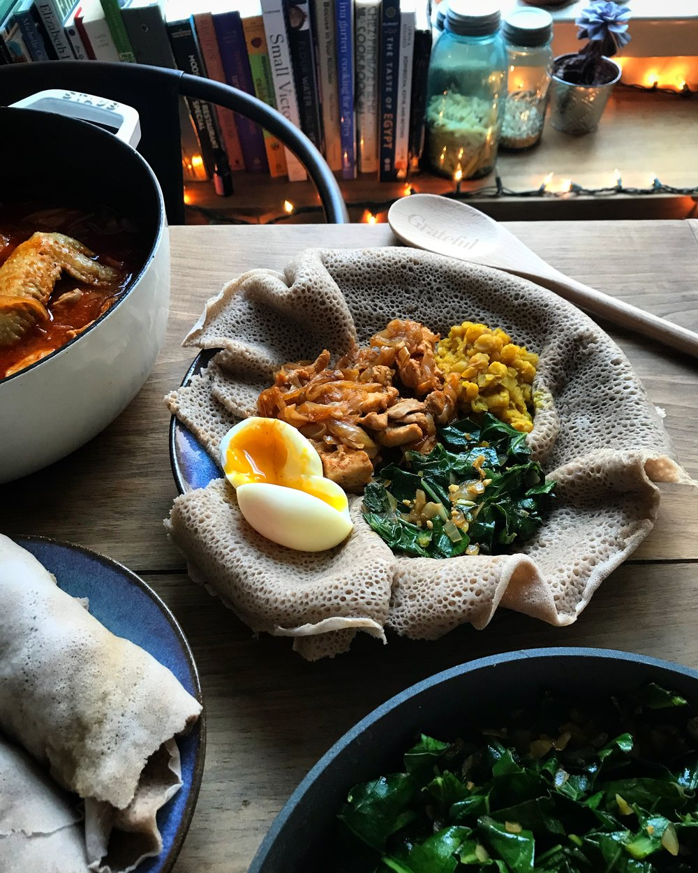 doro wat injera yellow split peas ethiopian meal ingredients