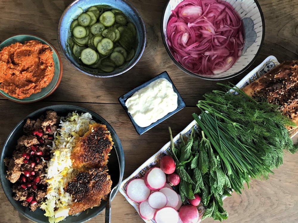 A Persian Dinner Feast