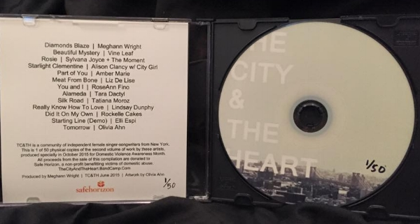 The City & The Heart Volume 2, compilation of NY artists to benefit Safe Horizon, NPO for domestic violence