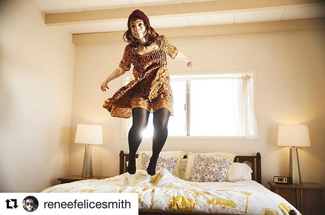 #Repost @reneefelicesmith with @repostapp ・・・ Jumping on the bed never gets old. #therelationtrip
