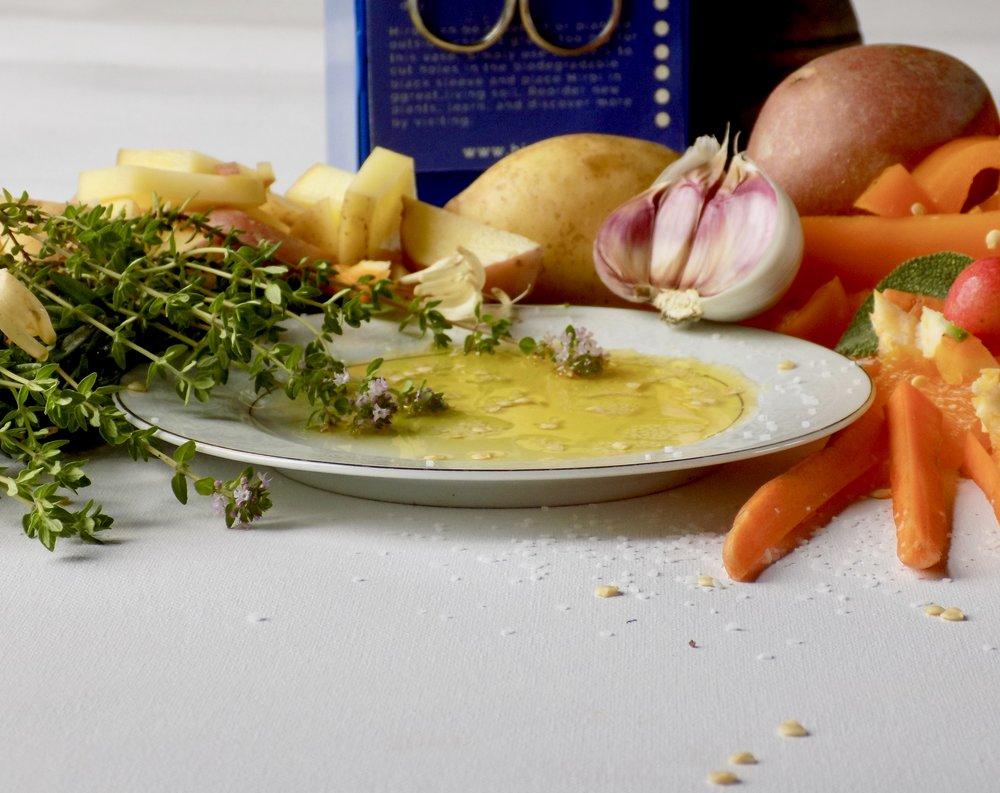 Twice Herbed Potatoes, Hirbi, Culinary Herbs, Local Food