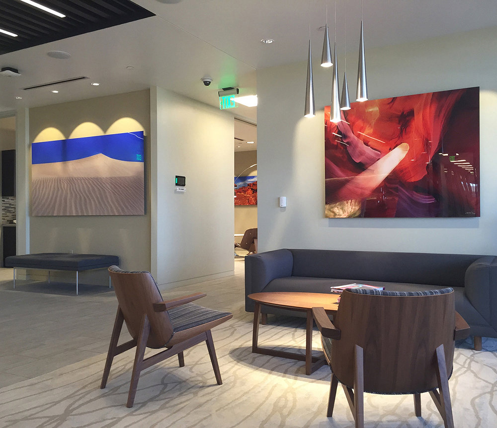 Wind Song 48x96, Epiphany 40x50 | MGM Hospitality Corporate Installation