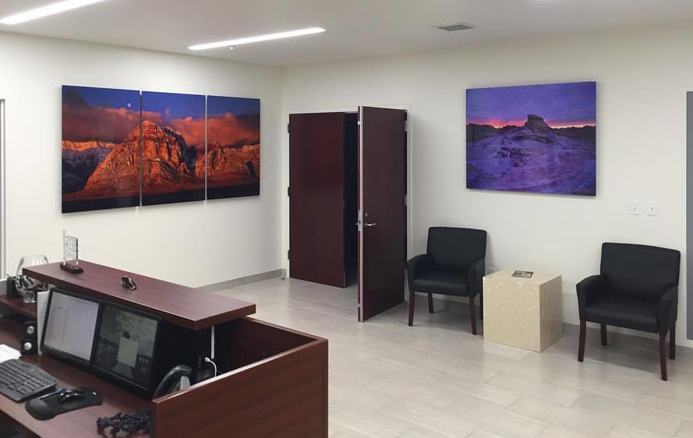 (Left) Goodnight Moon 48x96 (Right) Valley of Fire 40x50 | Howard Hughes Corporation Installation