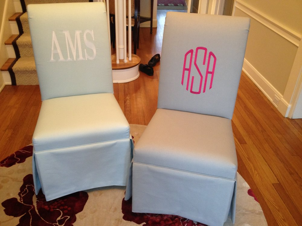 Monogrammed Dining Chairs