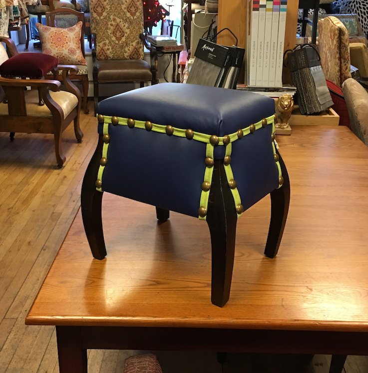 Fun Little Leather Footstool