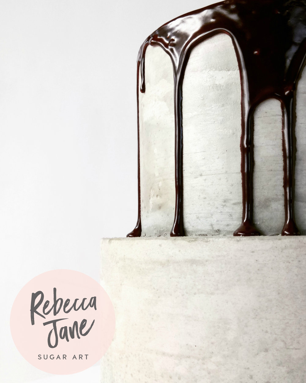 Rebecca Jane Sugar Art - Concrete buttercream drip cake