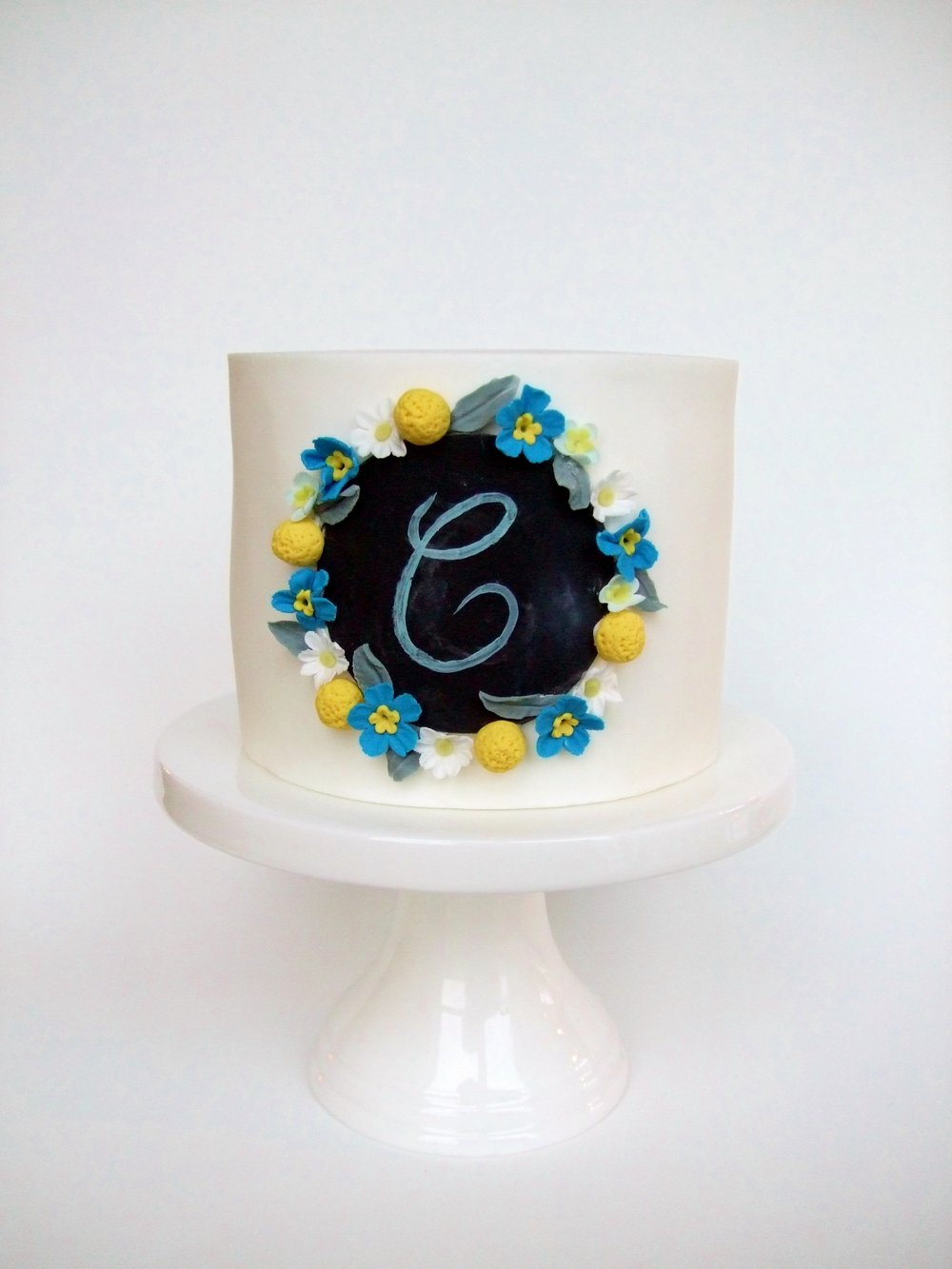 Rebecca Jane Sugar Art - mini chalkboard wreath cake