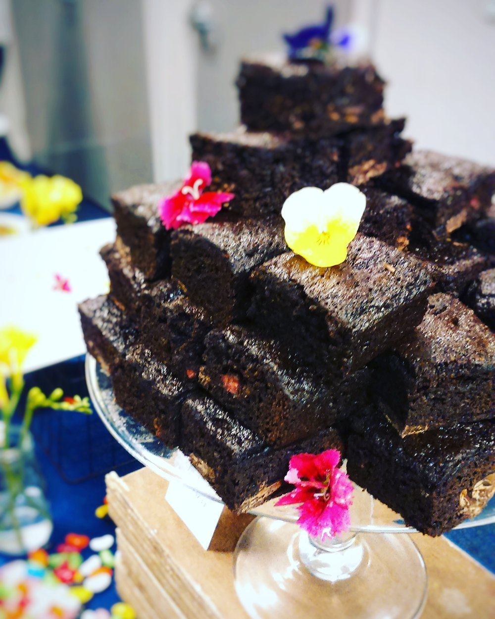 Rebecca Jane Sugar Art - chocolate brownie stack