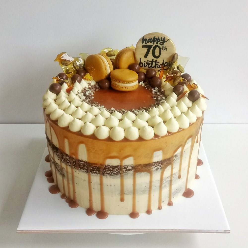 Rebecca Jane Sugar Art - salted caramel sticky date drip cake