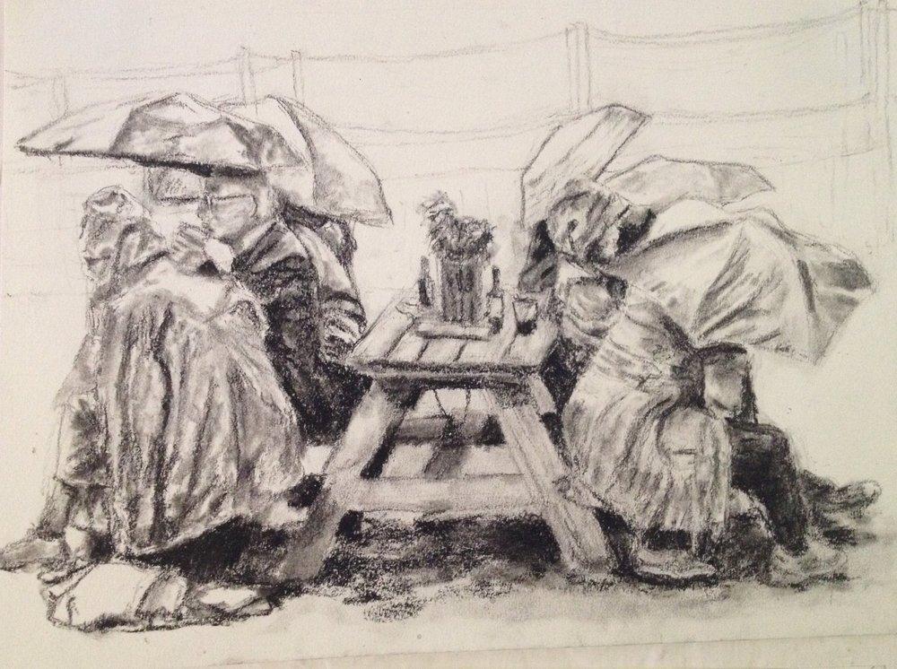 Rainy Day Lunch Break at Chelsea Garden Show