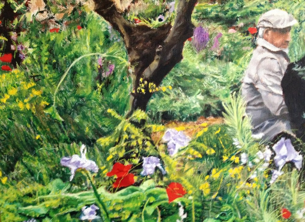 Detail of French Garden - background and foreground