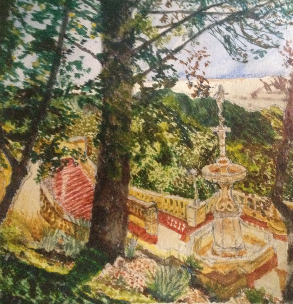 San Simeon Fountain Study