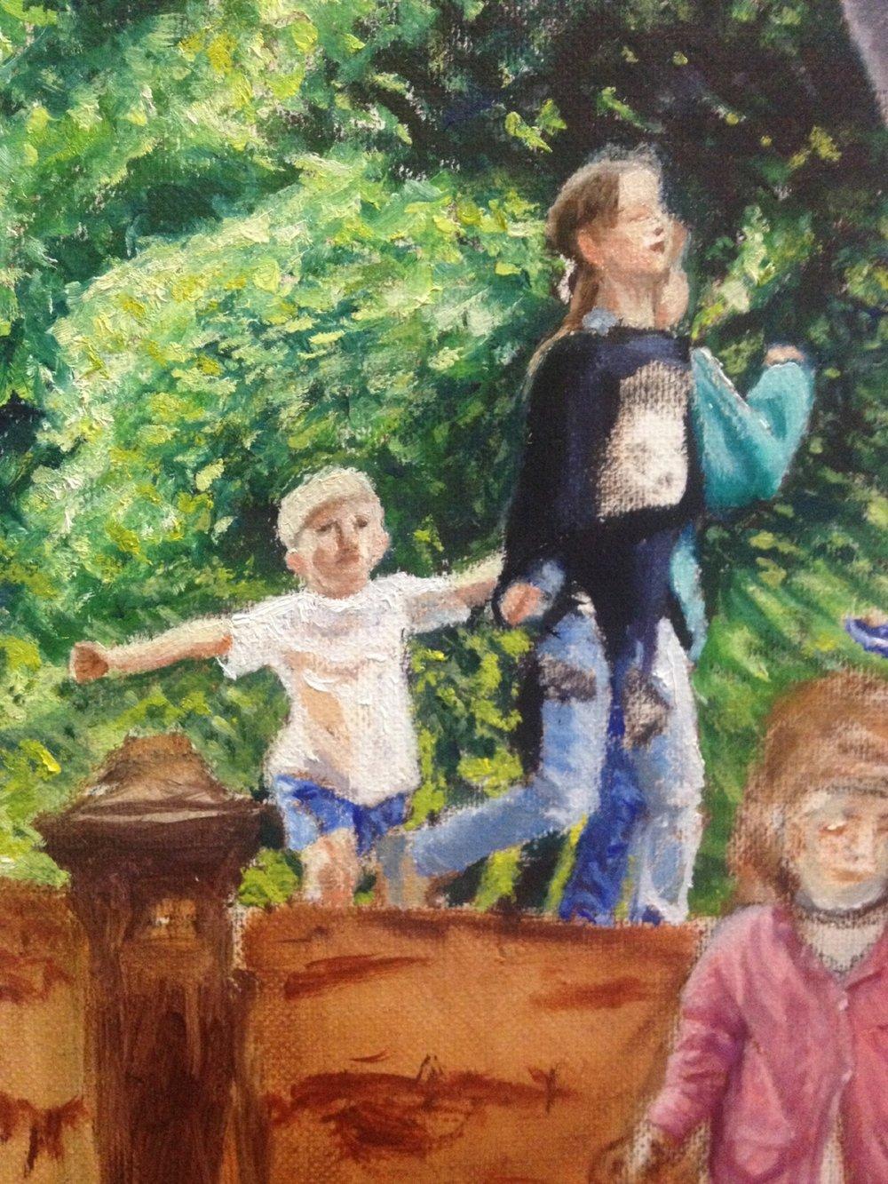 Three kids at play