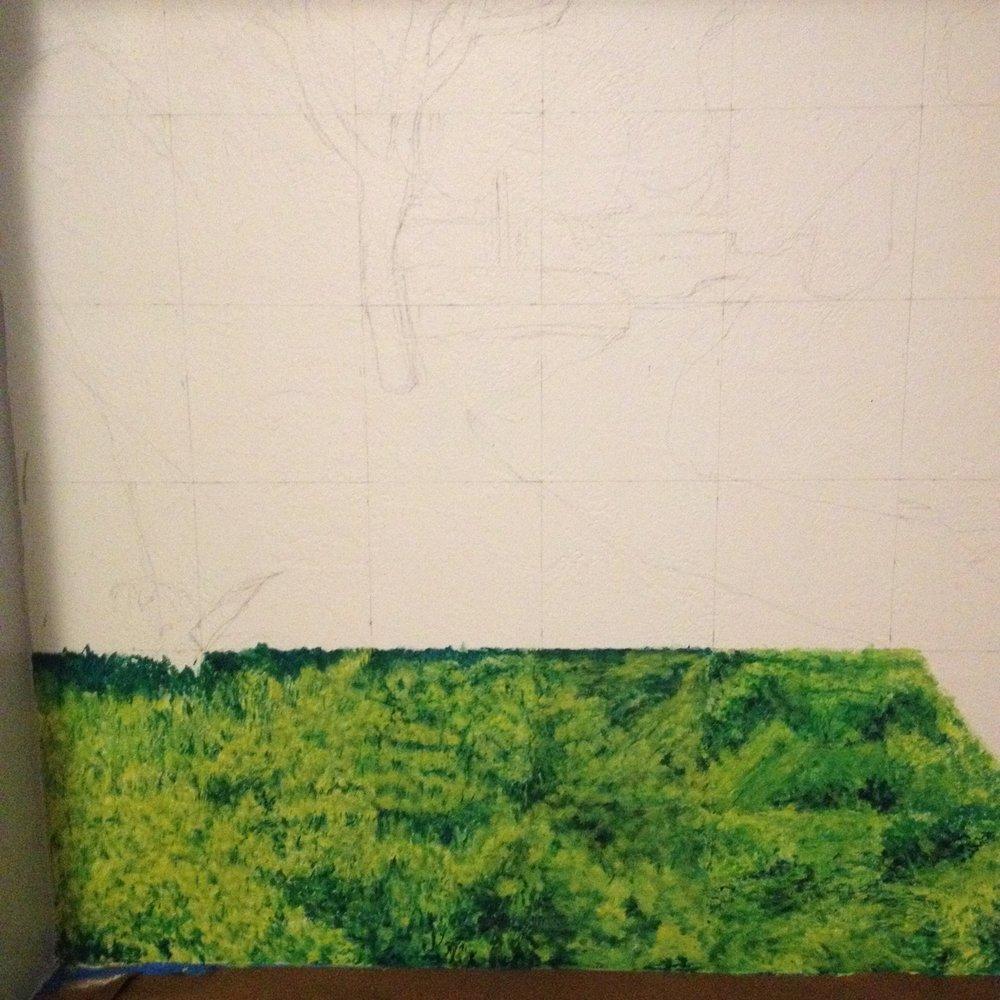 Starting mural