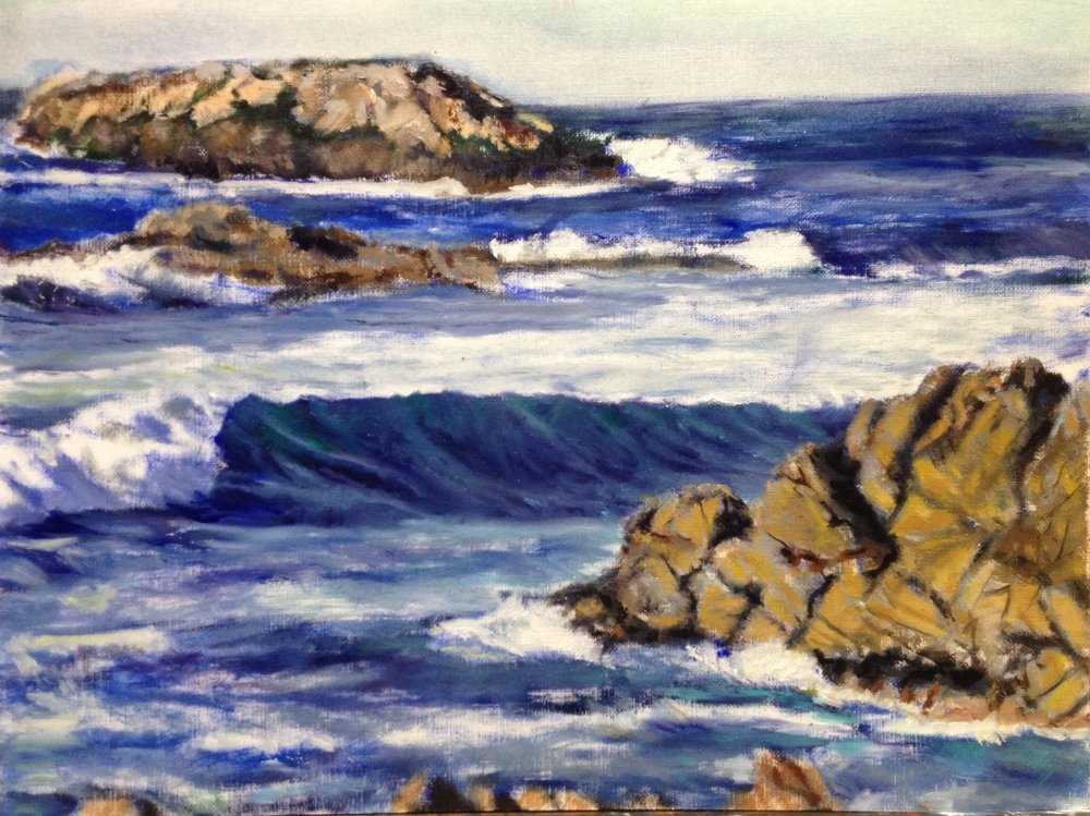 Seascape Study - Oil Sketch