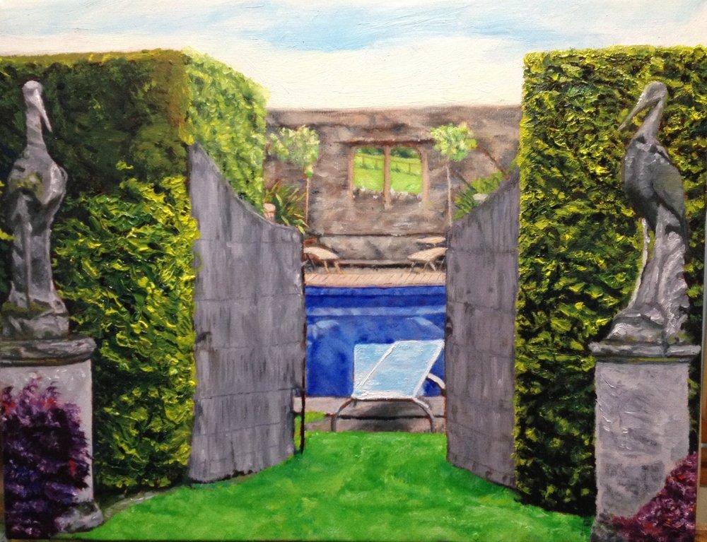 Homage to Hockney: Longborough Garden Room