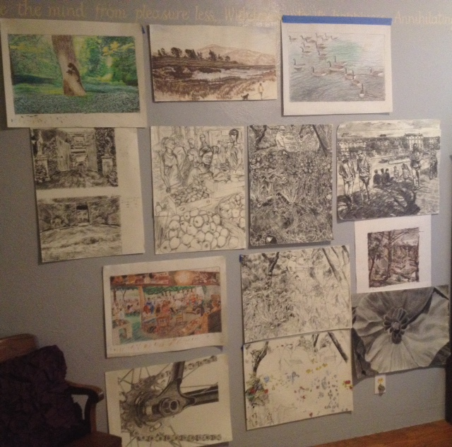 Mainly drawings for paintings
