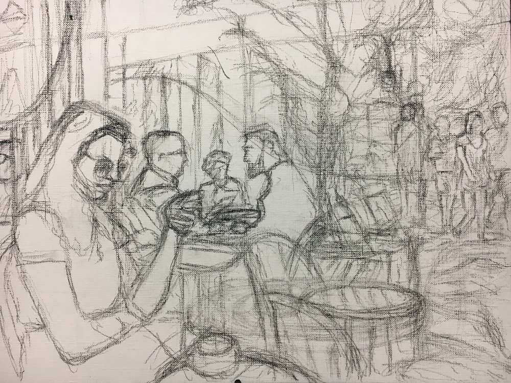 Drawing for oil sketch