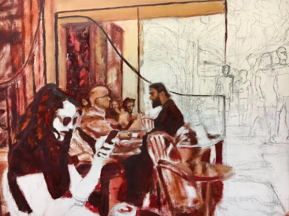 Underpainting in progress (12DEC)