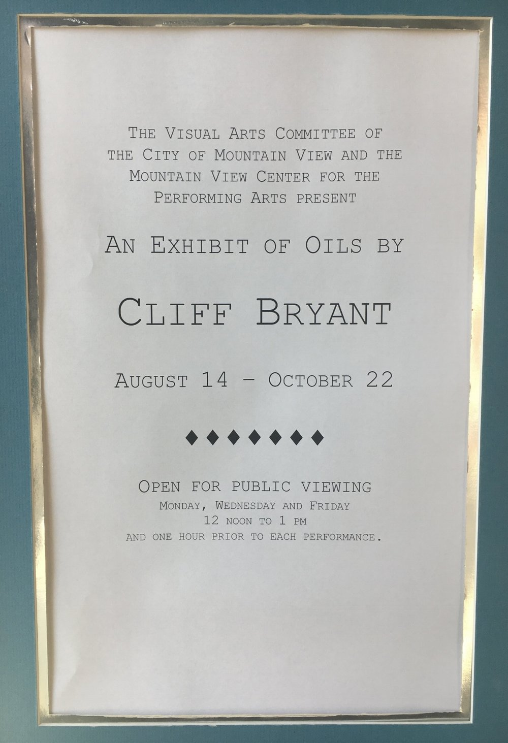 Sign for exhibition