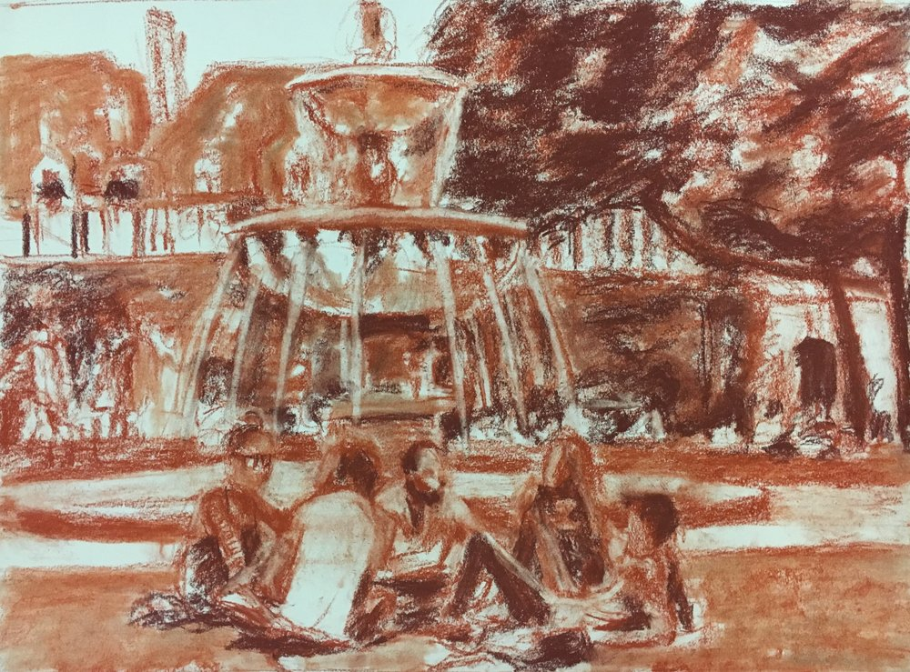 Summer Sunday on Place des Voges