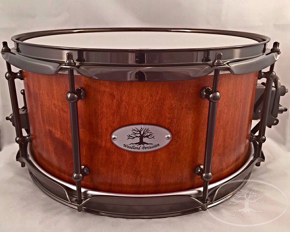 13x6.5x1/2 Hard Maple  Weathered Cherry stain finish with Black Chrome hardware