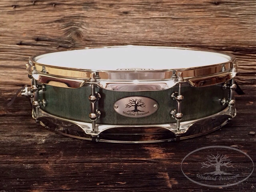 14x3.5x1/2 Hard Maple  Forest green stain finish with Chrome hardware