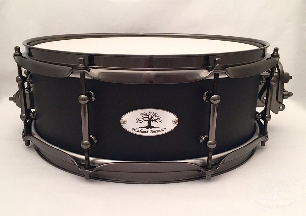 13x5x1/2 Birch  Onyx black finish with Black Chrome hardware