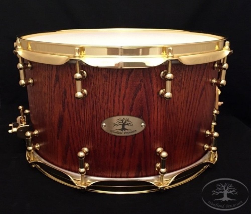 14x8x1/2 Red Oak   Aged Oak stain finish with Brass hardware