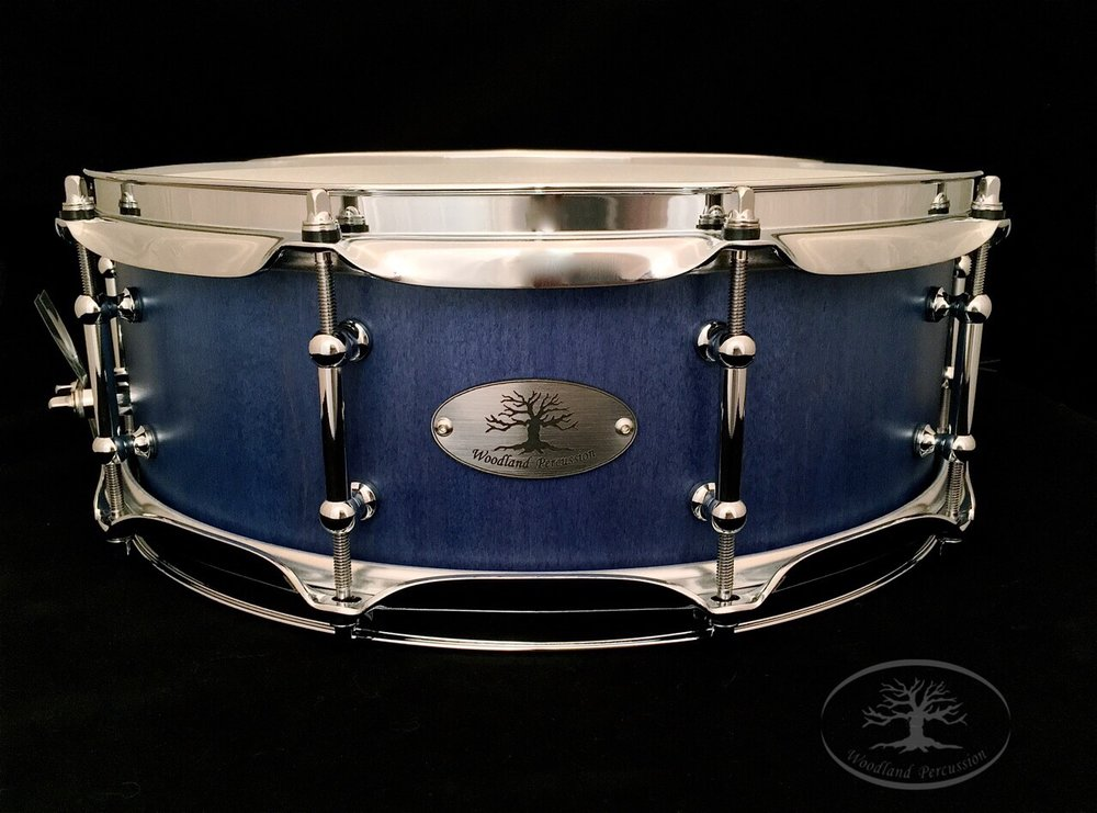 14x5x1/2 Hard Maple  Twilight blue stain finish with Chrome hardware