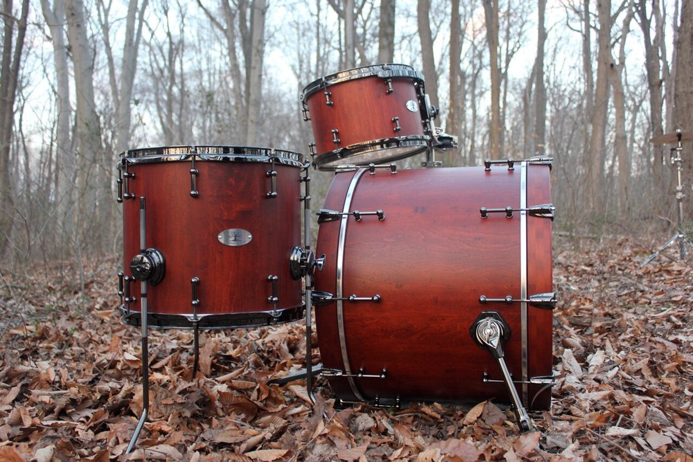 Hard Maple Kit   22x16, 14x12, 12x8, 10x7  Weathered Cherry stain finish with Black Chrome hardware