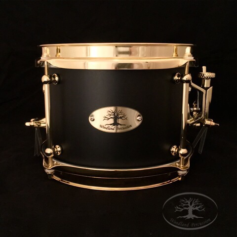 8x6x1/2 Birch   Brass Hardware with an Onyx Black Finish