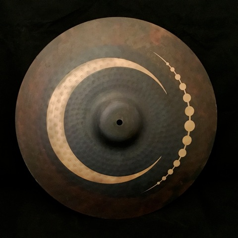 "18"" Crash Cymbal  Tribal Crescent Design"