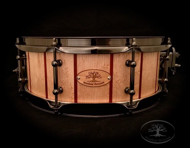 13x5x1/2 Birdseye Maple with Padauk stripes   Black Chrome Hardware with a Natural Oil finish