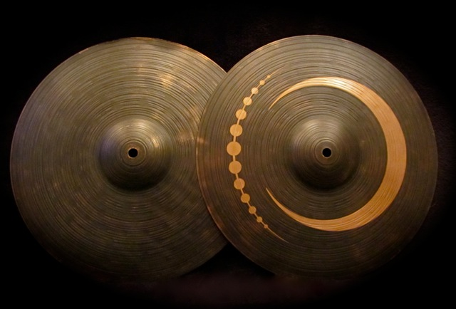 "14"" Hi Hats  Tribal Cresent Disign"