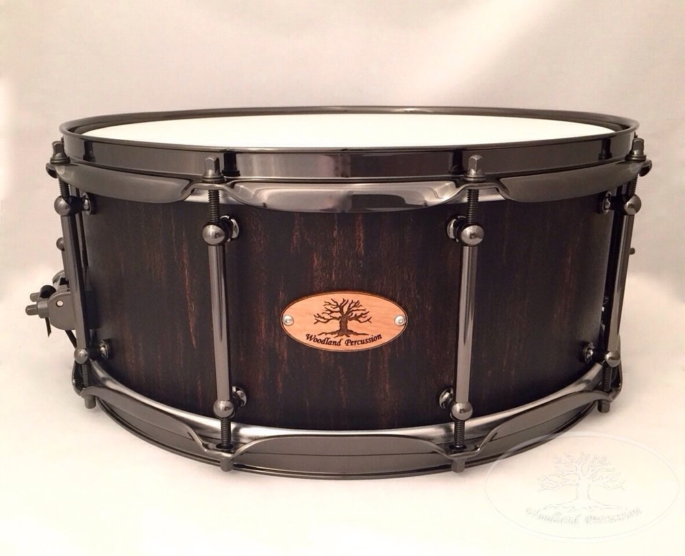 14x6x3/4 Birch  Onyx black over Chestnut stain distressed finish with Black Chrome hardware
