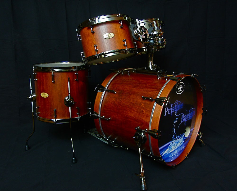 Hard Maple Kit  Weathered Cherry Stain with Black Chrome Hardware  20x16, 14x13, 12x8, 10x7