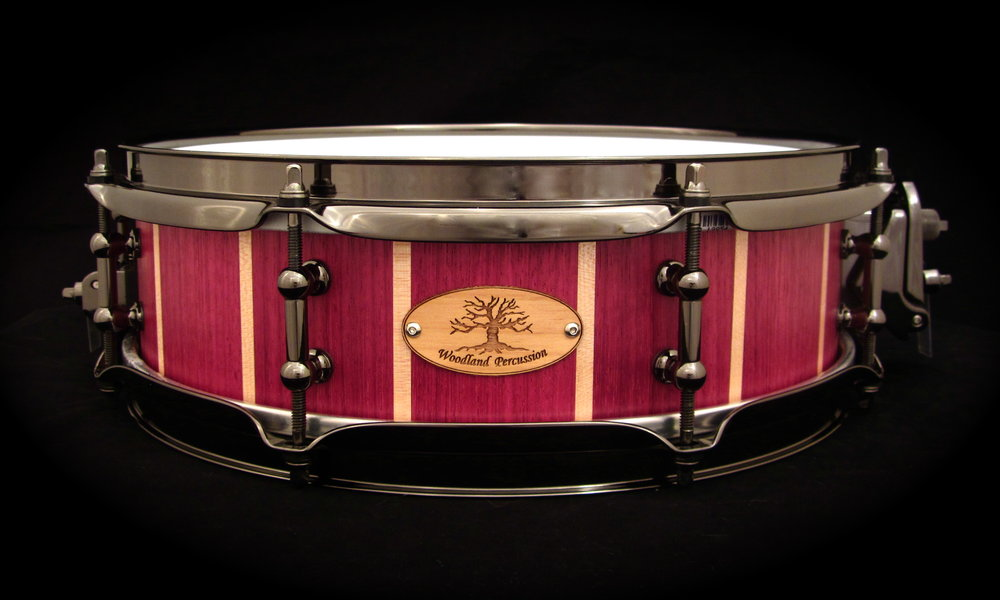 13x4x1/2 Purple Heart with Maple stripes  Black Chrome Hardware with a Natural Oil finish