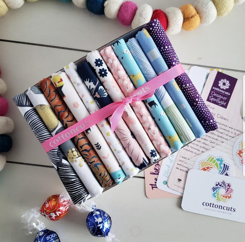 Cotton Cuts Classic Fabric Subscription including Bliss by My Minds Eye for Riley Blake