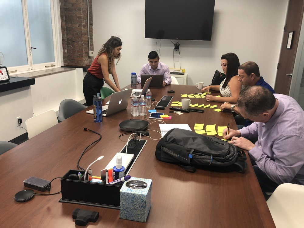 To learn about recruiting processes and workflows external to SmartRecruiters, we facilitated customer journey mapping sessions with the end users (recruiters!) from different companies in our targeted SME+ segments.
