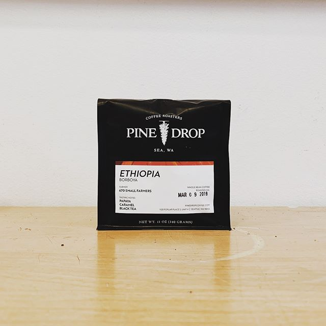 Our newest offering, Ethiopia Borboya, is one of the best tasting coffees we've offered this year.  Bright, aromatic and sweet.  Now available on pinedropcoffee.com and at our partners @convoycoffee. ✌🏽