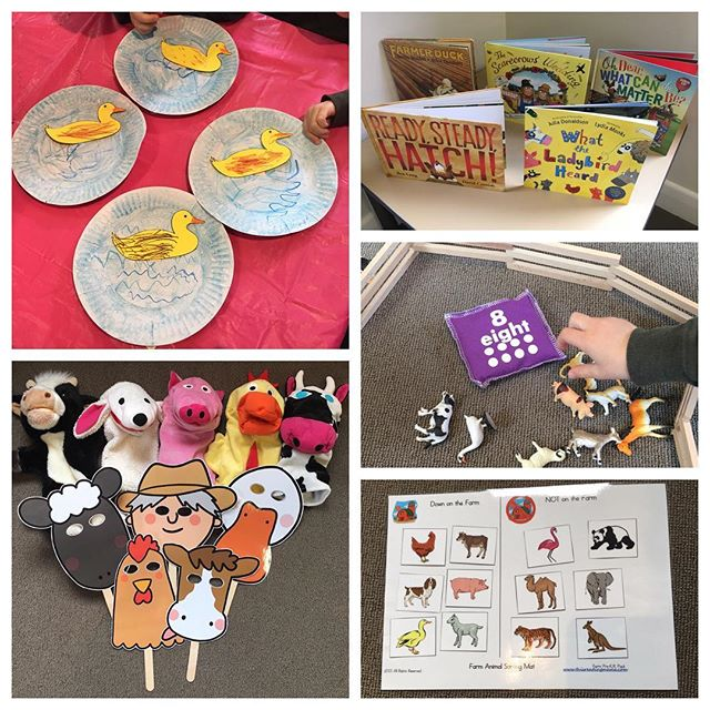 Fun on the farm at Busy Bookworms last week - a quacking good time was had by all! #picturebooks #masks #puppets #farmanimals #counting #games #artsandcrafts #ducks #quackquack