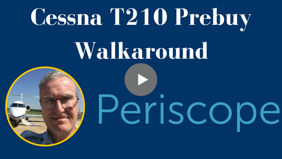 Check out The Prebuy Guys' Cessna T210 Prebuy Inspection Walk around.