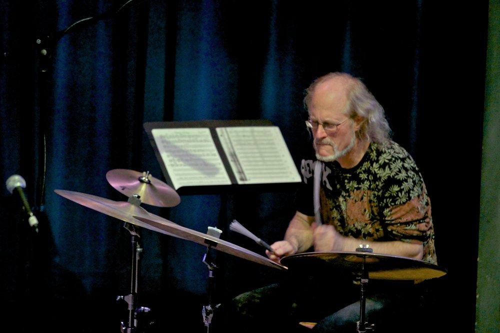 Ian on Cymbals