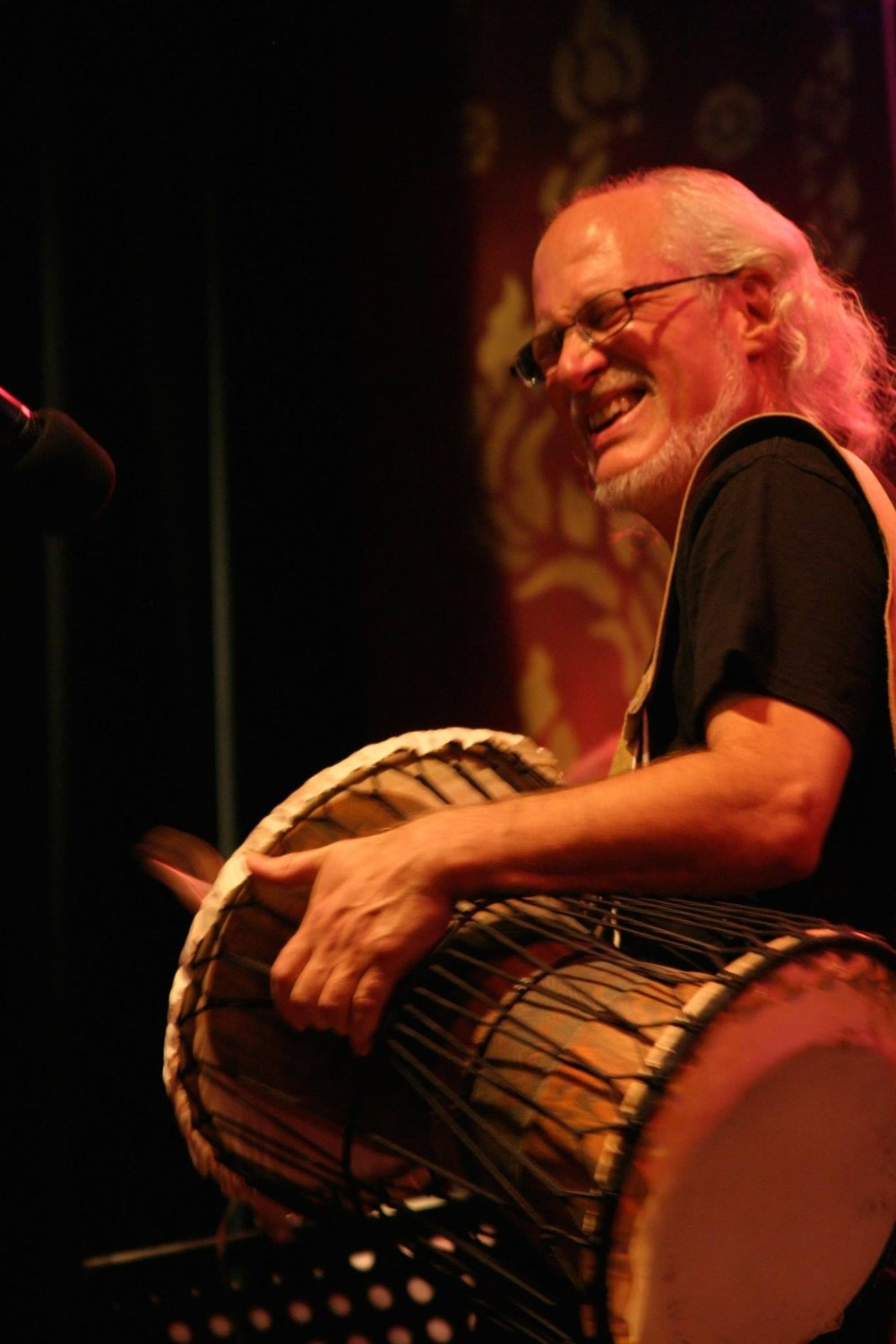 Ian on African Talking Drum at Afro-Weston Concert at the 142 Throckmorton Theatre.